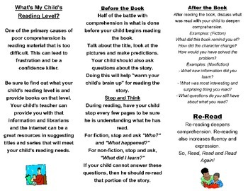 Parent Resource-Help Your Child With Reading Comp.Brochure