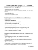 Parent Resource: Supporting Reading Strategies-- SPANISH