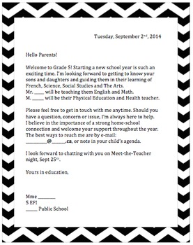 september welcome letter for parents september welcome letter for parents
