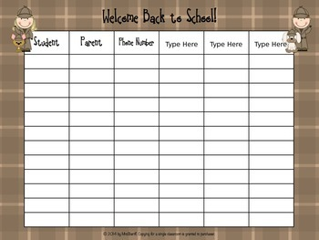 Parent Sign In Form - Detective Theme {EDITABLE}