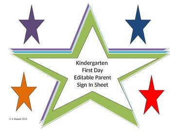 Parent Sign In Sheet