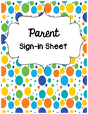 Parent Sign In Sheet