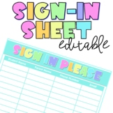 Parent Sign In Sheet | Editable | Great for Parent Meetings & Open House