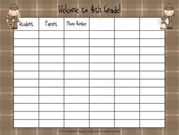 Parent Sign In Sheet for First Day of School - Detective