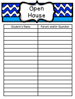 Parent Sign-In Sheets