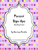 Parent Sign Ups-Parties