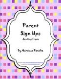 Parent Sign Ups-Parties