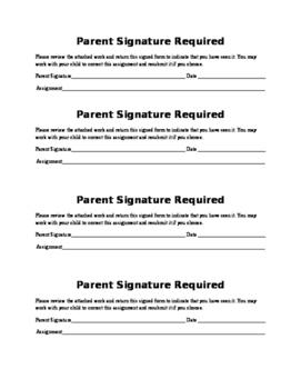 Parent Signature Required