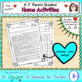 Parent Student A-Z Home Activities
