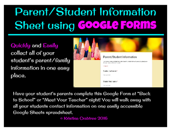 Parent/Student Information Form