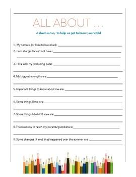 Parent/Student Information Form