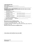 Parent/Student Information Sheet