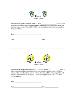 Parent-Student Policies Contract
