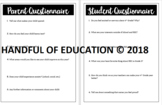 Parent & Student Questionnaire for Back to School