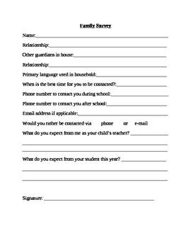 Parent Student Survey