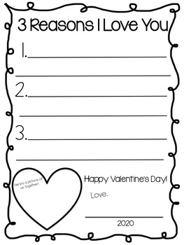 Parent Valentine & Student bookmark valentines!