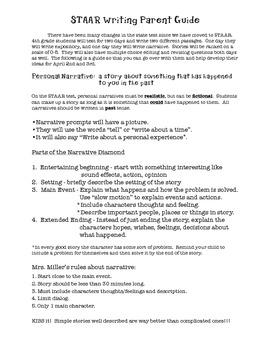 Parent Study Guide for STAAR Writing Test
