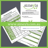 Parent Survey. Supports EYLF &/or NQF Australia