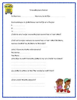 Parent Survey (English and Spanish)