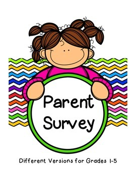 Parent Survey: All About Your Child