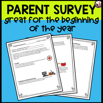 Parent Survey!  Beginning of the School Year!