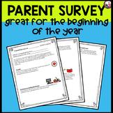 Parent Survey!  Beginning of the School Year!