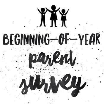 Parent Survey - Customizable PDF