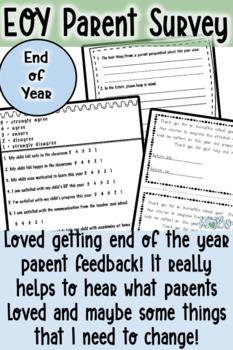 Parent Survey: End of year survey