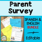 Editable Parent Survey Bundle in English and Spanish