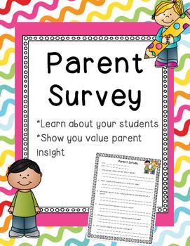 Parent Survey FREEBIE