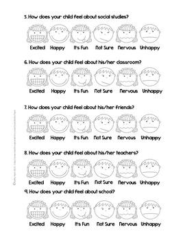 Parent Survey Home-School Partnership Freebie