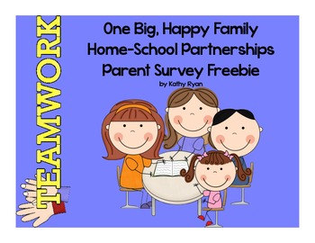 Parent Survey Home-School Partnership Freebie