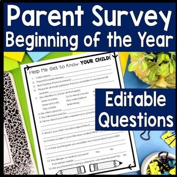 Parent Survey: Beginning of Year Parent Survey