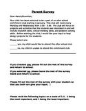 Parent Survey for Enrichment Club