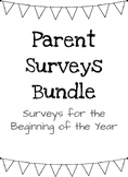 Parent Surveys for the Beginning of the Year