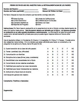 Parent Surveys in Spanish
