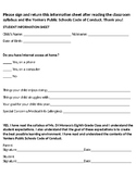 Parent Syllabus Contract