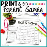 Distance Learning Parent Print & Go Games