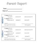 Parent - Teacher Behavior Communication Report