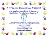 Parent-Teacher CSE Meeting Handbook: A Special Education Toolkit