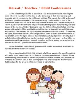 Parent Teacher Child Conferences