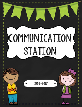 "Parent Teacher Communication Binder ""Communication Station"" & Happy Grams"