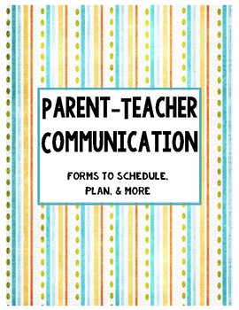 Parent-Teacher Communication Binder Cover