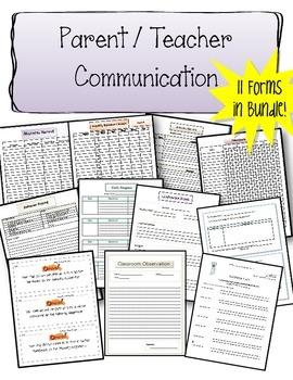Parent Teacher Communication Bundle