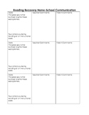 Parent-Teacher Communication Form