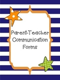 Parent Teacher Communication Forms