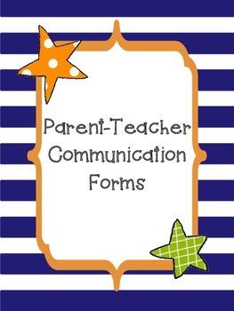 Parent Teacher Communication Forms