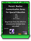 Parent Teacher Communication Forms for Spec. Ed.