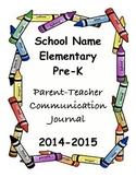 Parent-Teacher Communication Journal and Behavior Chart