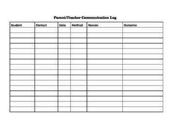 Parent-Teacher Communication Log